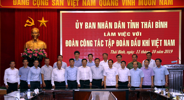 Tổng giám đốc PV GAS tham gia Đoàn làm việc với lãnh đạo UBND tỉnh Thái Bình - 1