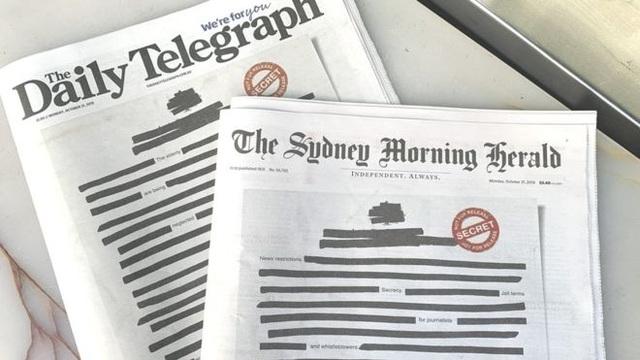 Các báo lớn ở Australia bất ngờ đồng loạt bôi đen trang nhất - 1