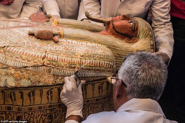 Ai Cập công bố 30 quan tài chứa xác ướp 3.000 năm tuổi - 5