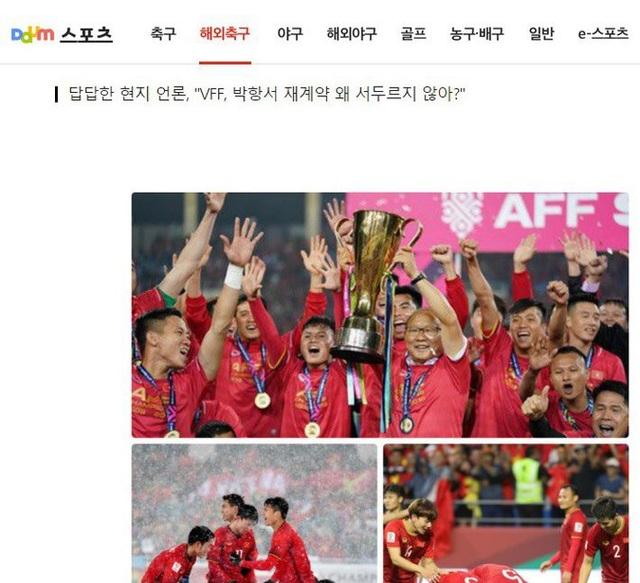 Báo Hàn Quốc sốt ruột với chuyện hợp đồng của HLV Park Hang Seo - 1