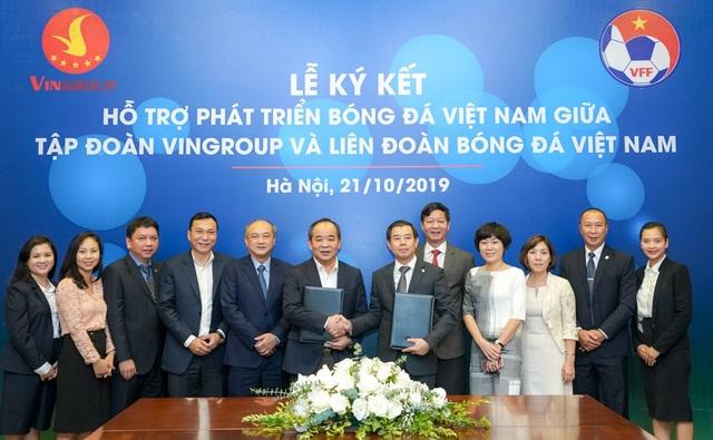 Vingroup  VFF ký thỏa thuận hợp tác chiến lược hỗ trợ phát triển bóng đá Việt Nam - 2