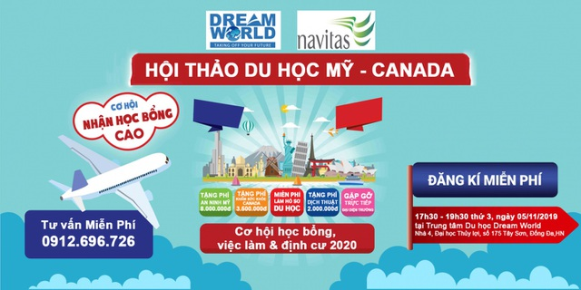 Cơ hội học bổng, việc làm và định cư tại Mỹ - Canada 2020 - 1