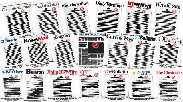 Các báo lớn ở Australia bất ngờ đồng loạt bôi đen trang nhất - 2