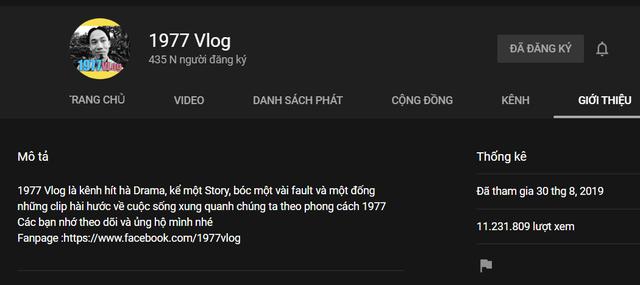 """1977 Vlog """"khủng"""" hơn cả Bà Tân Vlog: hơn 400 ngàn lượt đăng ký chỉ với vỏn vẹn 3 video - 3"""