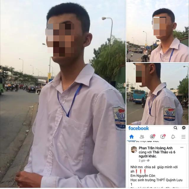 Nam sinh Nghệ An bị lạc khi chạy xe ra Hà Nội tìm bạn gái quen trên mạng - 1