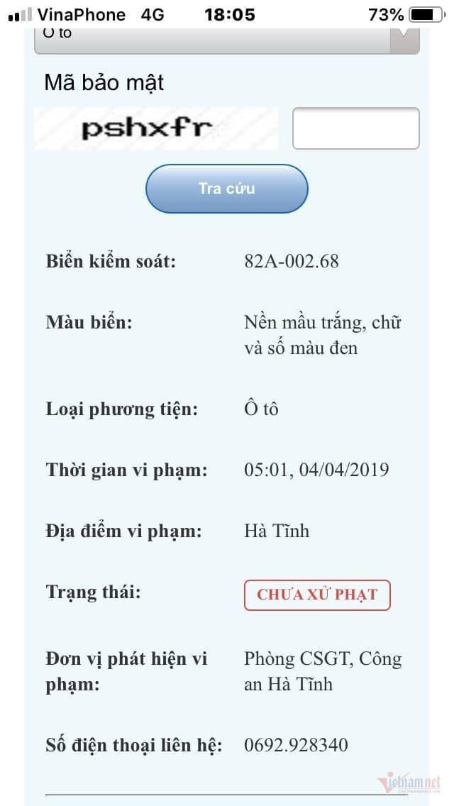 Xe của cán bộ Viện kiểm sát đang ở Kon Tum lại bị bắn tốc độ ở Hà Tĩnh - 3