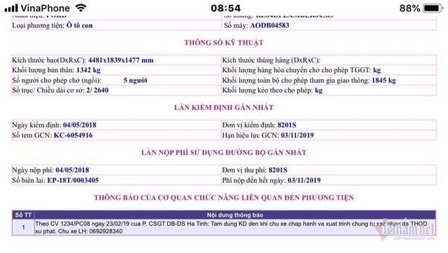 Xe của cán bộ Viện kiểm sát đang ở Kon Tum lại bị bắn tốc độ ở Hà Tĩnh - 4