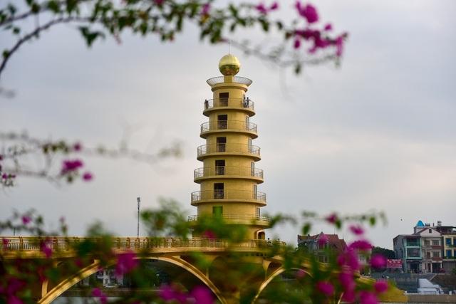 Toàn cảnh cây cầu đi bộ với kiến trúc tháp 7 tầng độc nhất vô nhị tại Phú Thọ - 11