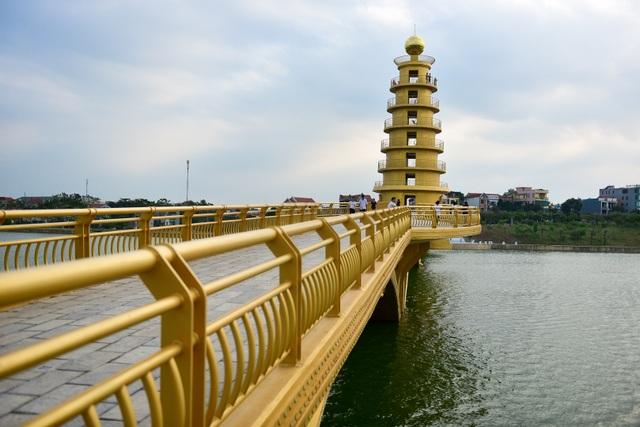 Toàn cảnh cây cầu đi bộ với kiến trúc tháp 7 tầng độc nhất vô nhị tại Phú Thọ - 3