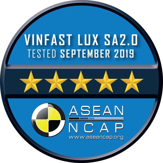 VinFast đạt chứng nhận an toàn ASEAN NCAP 5 sao cho Lux SA2.0 và Lux A2.0. và 4 sao cho Fadil - 4