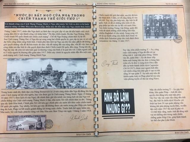 Học sinh Hà Nội sáng tạo bài tập Lịch sử theo phong cách báo chí - 2