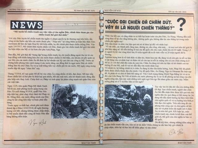 Học sinh Hà Nội sáng tạo bài tập Lịch sử theo phong cách báo chí - 6
