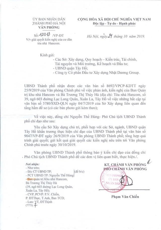 """Cư dân chung cư Hancom kêu cứu đỏ toà nhà: Thành phố Hà Nội tiếp tục chỉ đạo """"nóng""""! - 1"""