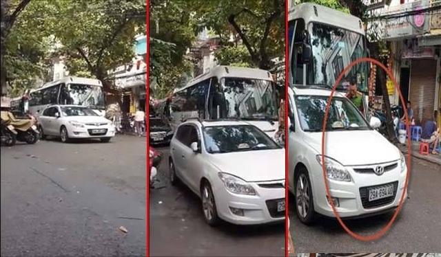 Hà Nội: Trung úy công an bị xử phạt vì đỗ xe ở ngã ba - 1