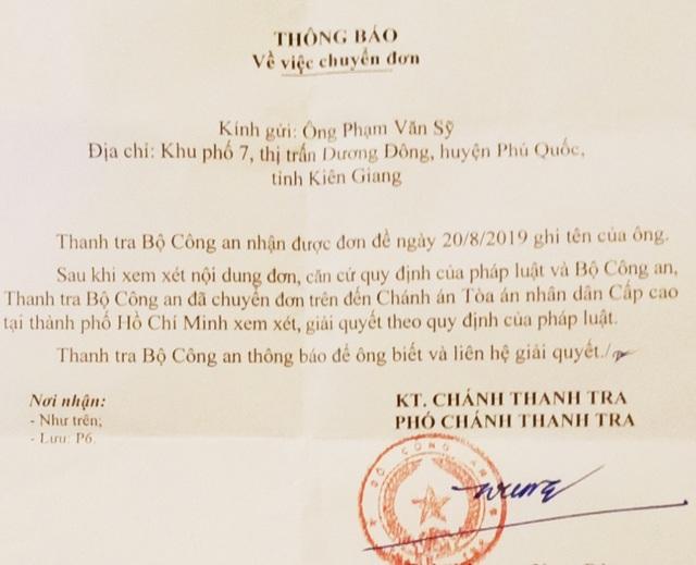 Vụ cố ý gây thương tích tại Kiên Giang: Thanh tra Bộ Công an chuyển TAND cấp cao giải quyết - 1