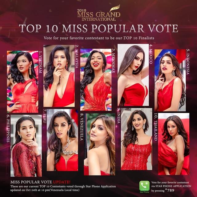 Trước chung kết Hoa hậu hoà bình quốc tế 2019, Kiều Loan dẫn đầu top thí sinh được yêu thích nhất - 3
