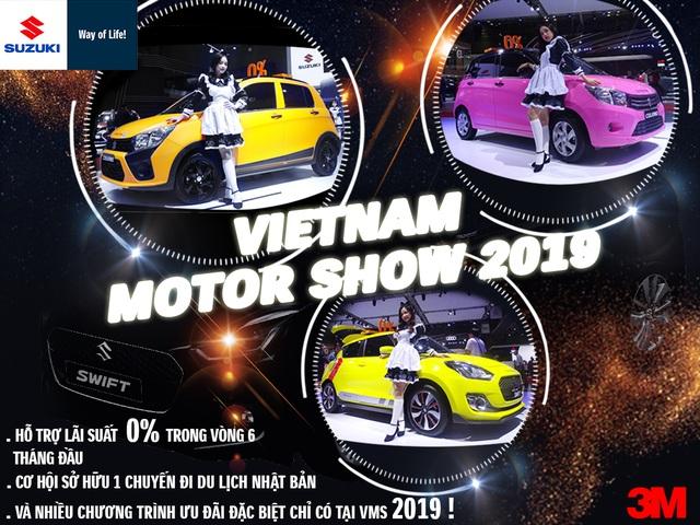 Chiêm ngưỡng vẻ thể thao của Suzuki Swift tại Triển lãm ô tô Việt Nam 2019 - 1