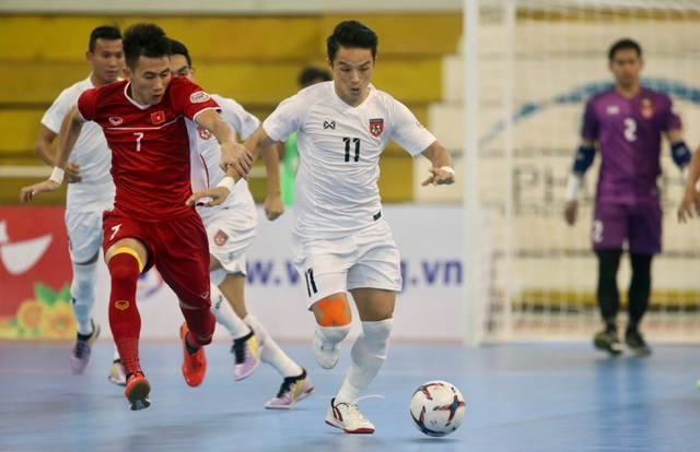 Thắng Myanmar 7-3, đội tuyển futsal Việt Nam giành vé dự giải châu Á - 3