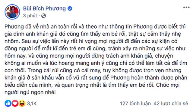 """Bích Phương bối rối lộ hát nhép khi bị khán giả """"giật micro"""" tìm con lạc? - 3"""