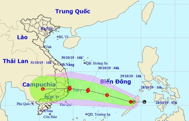 Vùng áp thấp trên biển mạnh lên thành áp thấp nhiệt đới - 1