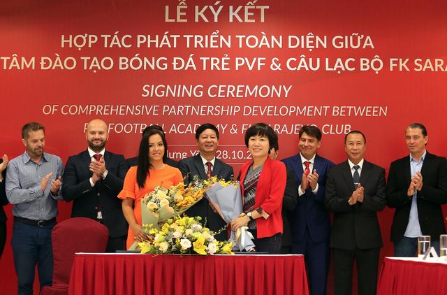 PVF và CLB FK Sarajevo ký thỏa thuận hợp tác phát triển toàn diện - 1