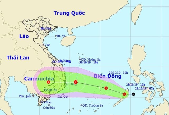 Xuất hiện vùng áp thấp ở Biển Đông - 1