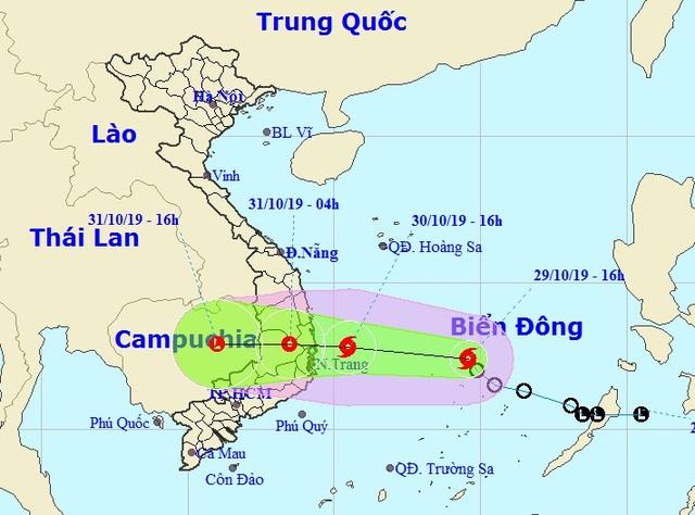 Bão số 5 hình thành trên Biển Đông, hướng về Bình Định - Ninh Thuận - 1