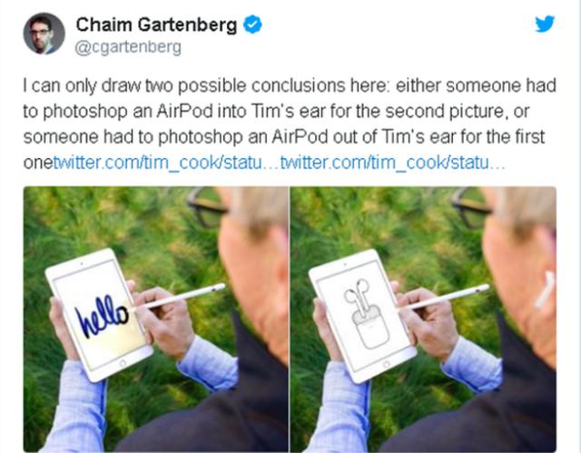 CEO Apple bị chế giễu vì sử dụng ảnh Photoshop để khoe tai nghe AirPods - 3