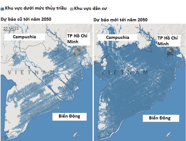 Nghiên cứu cảnh báo nguy cơ phía Nam Việt Nam ngập dưới nước vào năm 2050 - 1