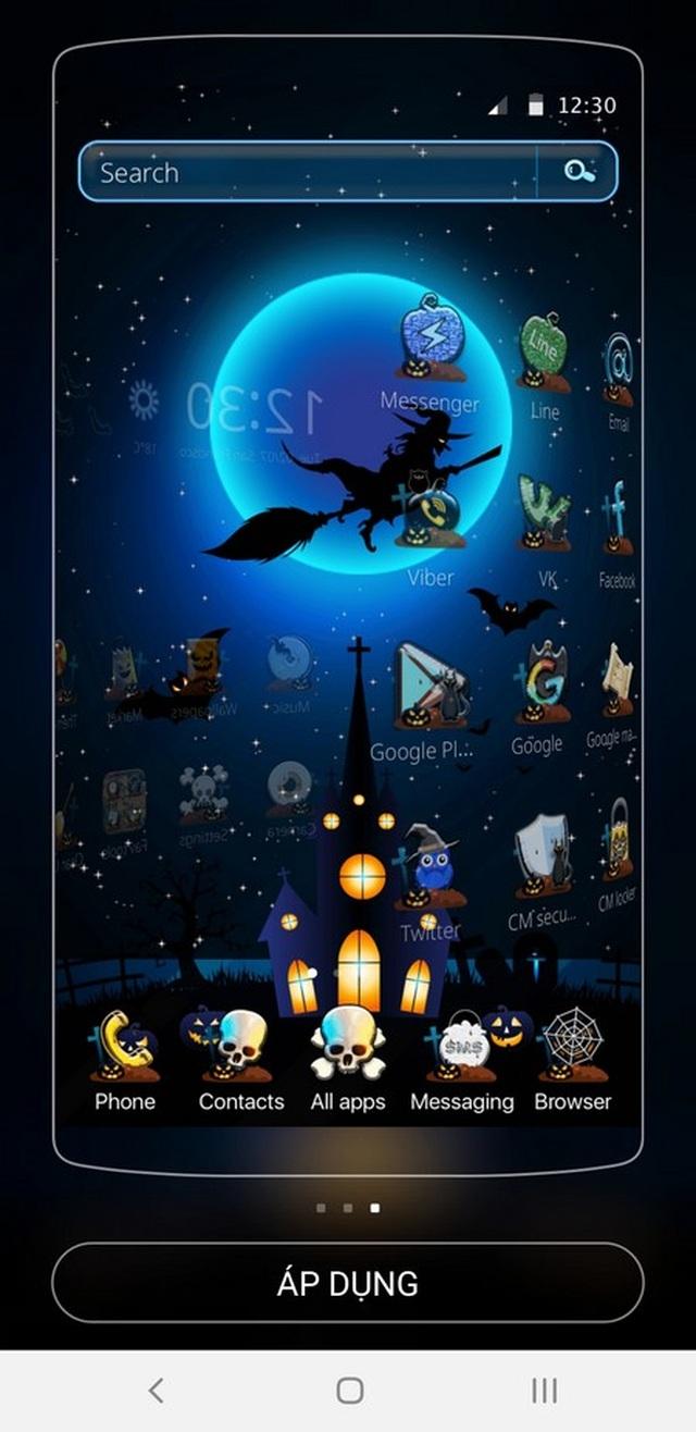 """Bộ giao diện thú vị giúp """"hóa trang"""" cho smartphone để đón Halloween - 2"""