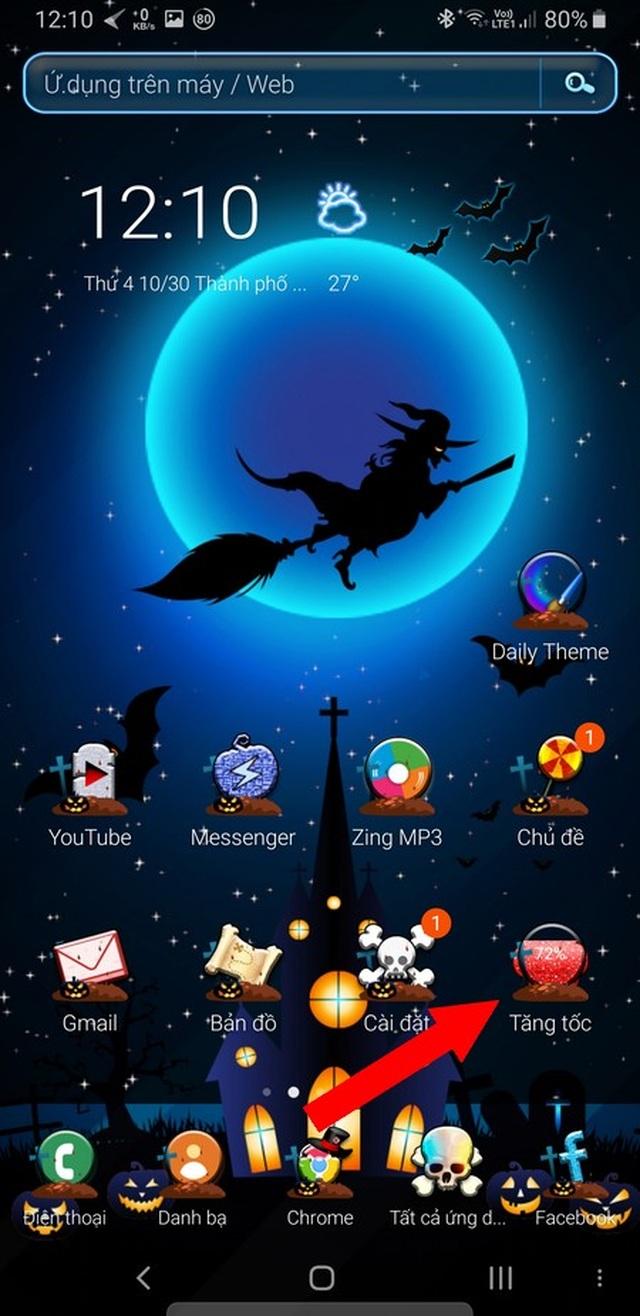 """Bộ giao diện thú vị giúp """"hóa trang"""" cho smartphone để đón Halloween - 5"""