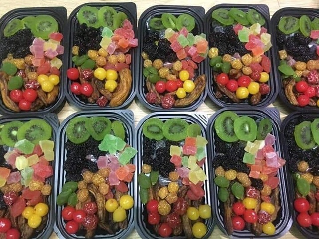 Mứt Tết trái cây bảy sắc cầu vồng, giật mình hàng cao cấp 35 ngàn đồng/kg - 3