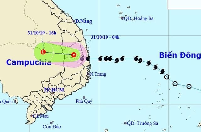 Bão số 5 suy yếu thành áp thấp nhiệt đới, nhiều nơi tiếp tục mưa to - 1