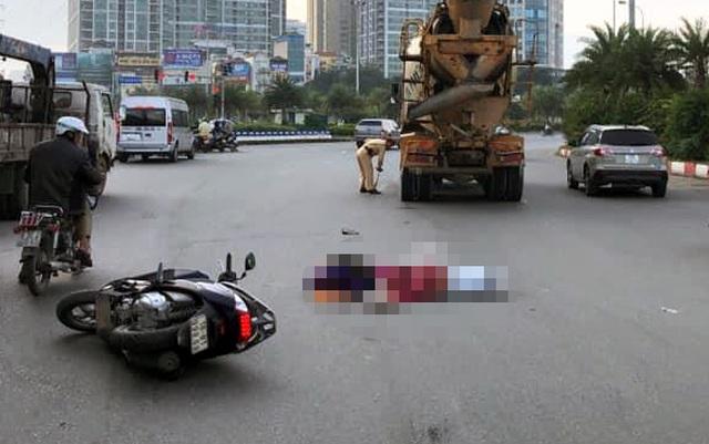 Hà Nội: Va chạm với xe bồn, hai phụ nữ tử vong tại chỗ - 1