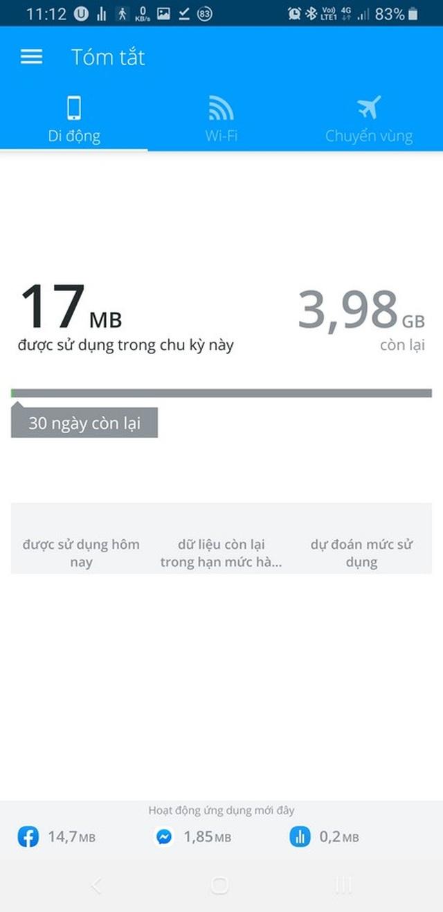 Ứng dụng quản lý chi tiết dung lượng mạng 4G đã sử dụng trên smartphone - 9