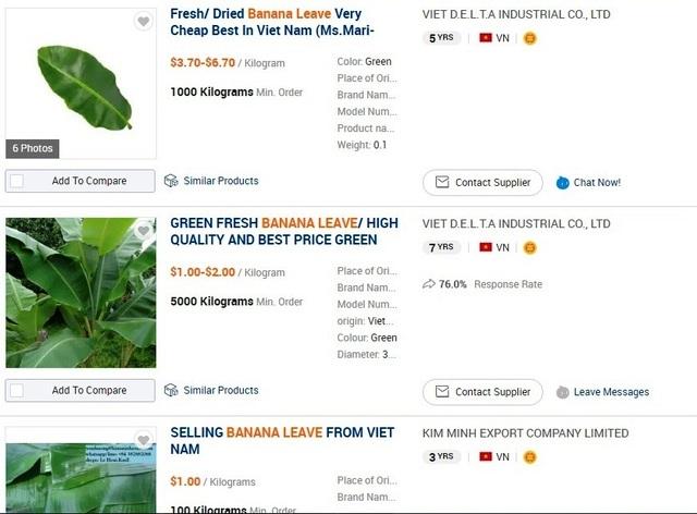 Lông mi, hương trầm, lá chuối xuất khẩu rầm rộ thông qua gã khổng lồ Alibaba.com - 2