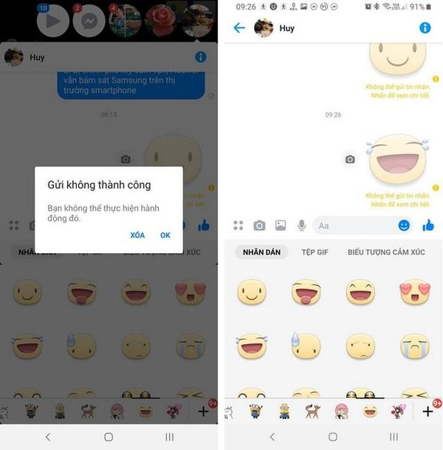 Facebook Messenger mắc lỗi lạ khiến người dùng không thể gửi sticker - 1
