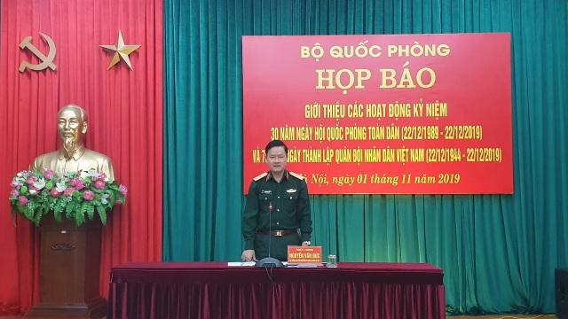 Họp báo thông tin kỷ niệm Ngày hội Quốc phòng toàn dân và Ngày thành lập QĐND Việt Nam - 1