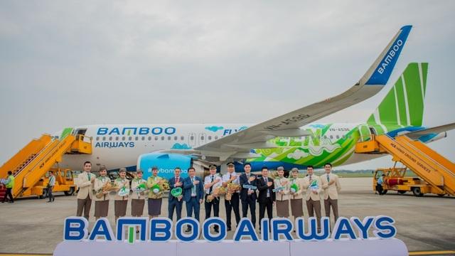 """Bamboo Airways đón máy bay Airbus A320neo đầu tiên trong chiếc áo """"Fly Green"""" ấn tượng - 1"""