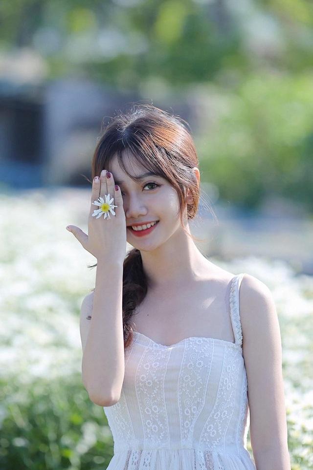 """""""Thiên thần ảnh thẻ"""" Lào Cai tinh khôi bên hoa cúc họa mi đầu mùa - 7"""