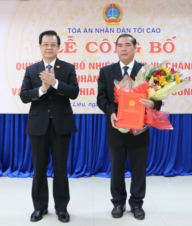 Thẩm phán cao cấp tại TPHCM được bổ nhiệm làm Chánh án TAND Bạc Liêu - 1