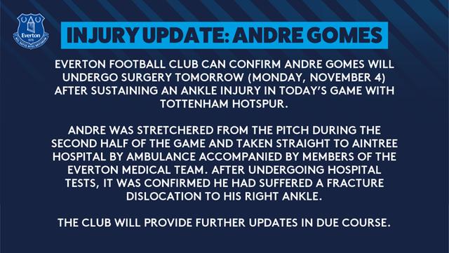 Andre Gomes sẽ được phẫu thuật ngay sau khi bị gãy cổ chân - 1