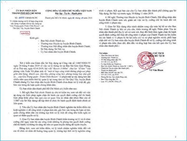 Vụ Gia Trang Quán – Tràm Chim Resort: Toà án từng tuýt còi quyết định của Sở Xây dựng TPHCM - 2