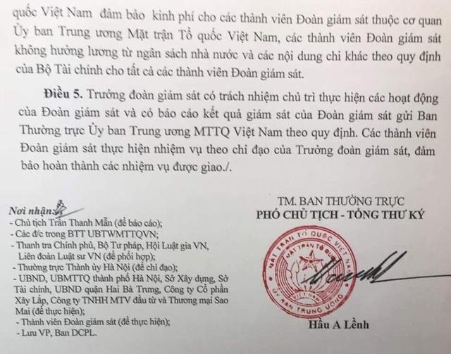 Uỷ ban Trung ương MTTQ Việt Nam giám sát vụ cư dân chung cư 229 phố Vọng kêu cứu - 3