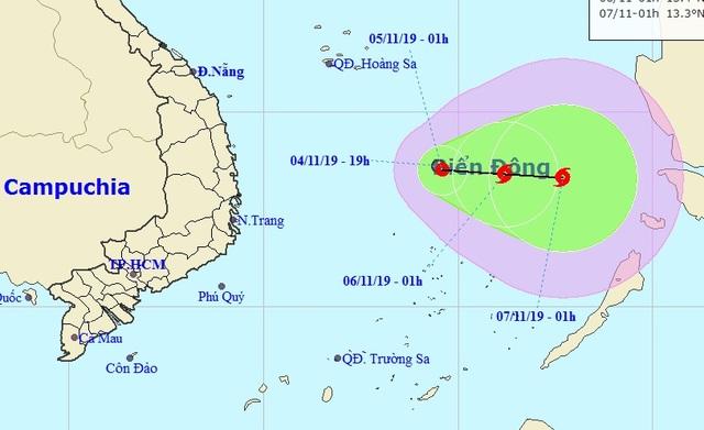 Hình thành áp thấp nhiệt đới ở Biển Đông - 1