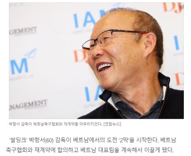 """Báo Hàn Quốc: """"HLV Park Hang Seo nhận mức lương lịch sử ở Việt Nam"""" - 1"""