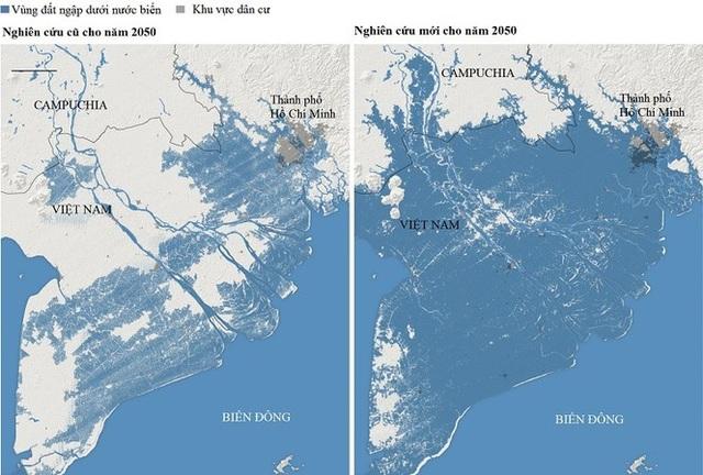 Mực nước biển dâng ở Đồng bằng Sông Cửu Long sẽ nhanh hơn so với những nơi khác? - 1