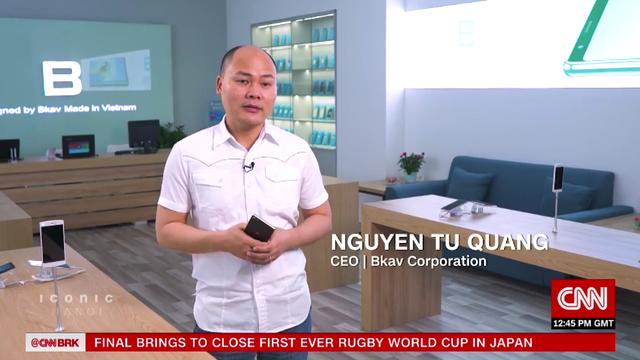 """CEO Bkav trải lòng về tên """"Quảng nổ"""" và khát vọng smartphone Việt trên kênh CNN - 1"""