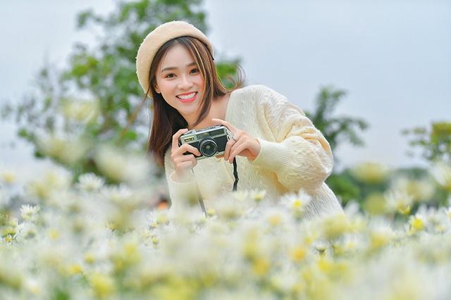 Nữ sinh 2K khoe sắc trên cánh đồng cúc họa mi Hà Nội - 10