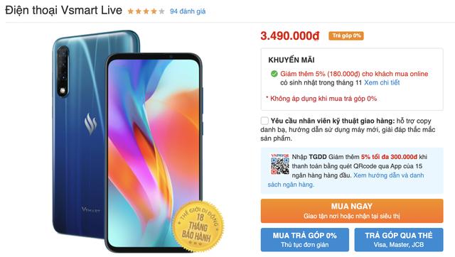 Vsmart Live bất ngờ giảm nửa giá sau 3 tháng bán ra - 1